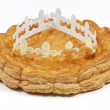 Epiphany cake and crown — Stock Photo