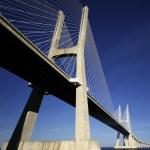 Under Vasco da Gama bridge — Stock Photo