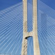 Part of famous Vasco da Gama bridge - Stok fotoraf