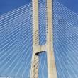 Part of famous Vasco da Gama bridge — Stock Photo