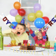 Big birthday party — Stock Photo