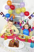 Big funny birthday party — Stockfoto