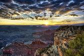 Famous Grand Canyon at sunrise — Stock Photo