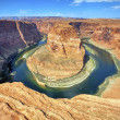 Horizontal view of the famous Horse Shoe Bend — Stock Photo