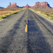 Famous long Road to the Monument Valley — Stock Photo