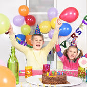 Children at birthday — Stock Photo