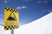 Avalanche risk — Stock Photo