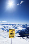 Snow ski resort under the sun — Stock Photo