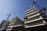 Construction site with cranes — Fotografia Stock