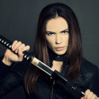 Katana girl — Stock Photo #22331637