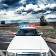 Stock Photo: Cop car