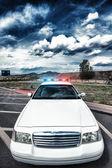 Policejní auto — Stock fotografie