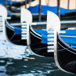 Typical gondolas — Stock Photo