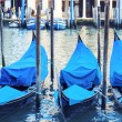 Three gondolas — Stock Photo