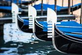 Typical gondolas — Stock Photo