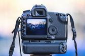 Tourist's digital photo camera — Stock Photo