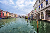 View of Venice with Rialto bridge — Stock Photo