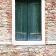 Windows of old house in Venice — Stockfoto