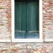 Windows of old house in Venice — Stock fotografie