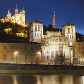 Famous view of Lyon — Stock Photo