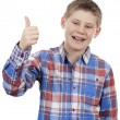 Cute boy with thumb up — Stock Photo #24091373