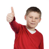 Boy giving you thumb up — Stock Photo