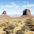 Panoramic view of famous Monument Valley — Stock fotografie