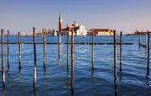 Visa san giorgio maggiore i solnedgången — Stockfoto