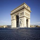 Famous view of the Arc de Triomphe — Stock Photo