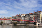 View of Lyon with Saone river — Stock Photo