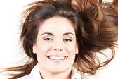 Retrato de mujer feliz — Foto de Stock