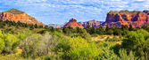 Panoramic view of famous red rock — Stock Photo