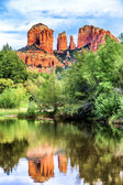Vertical view of Cathedral Rock — Stock Photo