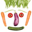 Happy vegetables face — Stock Photo
