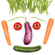 Happy vegetables face — Stock Photo #26144479