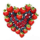 Red fruit heart — Stock Photo