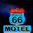 Route 66 at night — Foto Stock