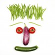 Funny vegetables face — Stock Photo #26424577