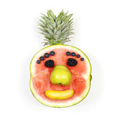 Funny fruit face — Stock Photo