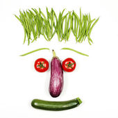 Funny vegetables face — Stock Photo