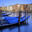 Vertical view of gondolas in Venice — Stock Photo