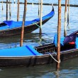 Panoramic view of gondolas in Venice — Stock Photo #26622585