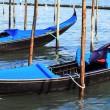 Panoramic view of gondolas in Venice — Stock Photo