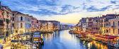 Panoramatický pohled ze slavného canal grande — Stock fotografie