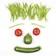 Cool vegetables face — Stock Photo #26964333