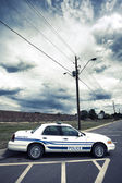 Vertical view of cop car — Stock Photo