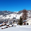 Stock Photo: Mountain Village of Megeve