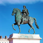 Equestrian statue of Louis XIV — Stock Photo