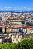 里昂城市鸟瞰图 — 图库照片