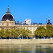 Stock Photo: Horizontal view of Rhone river